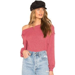 NWOT Free People Raspberry Sweater Top